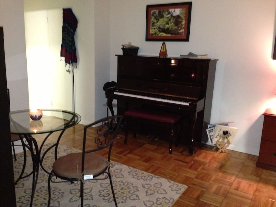 Dining Area with Piano