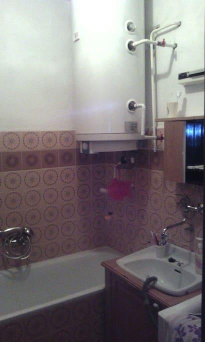 bath, shower, washing machine...