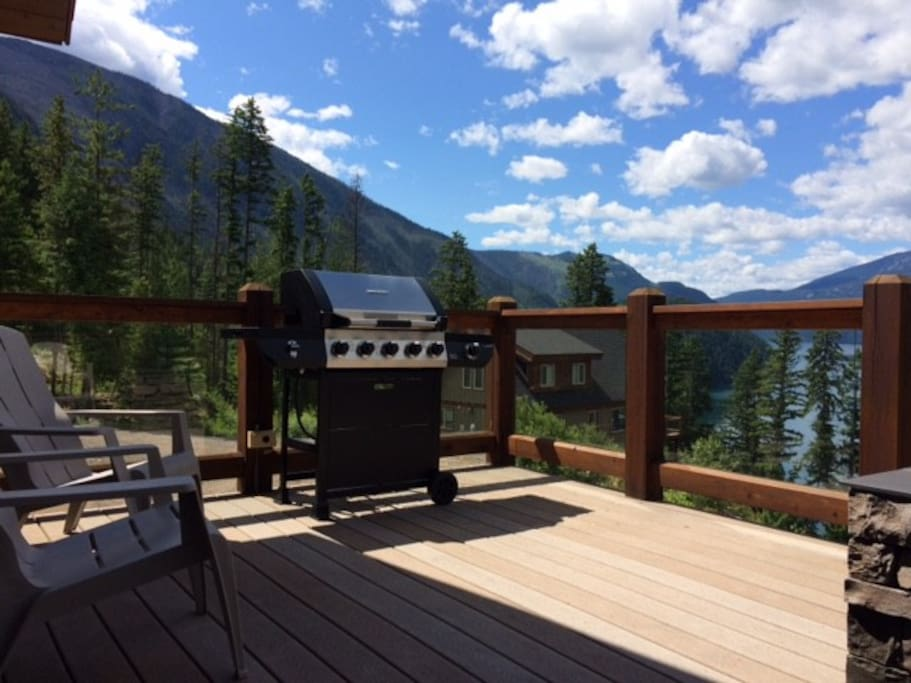 BBQ on back deck