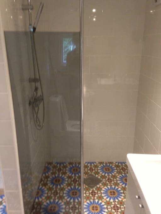 New renovated shower.