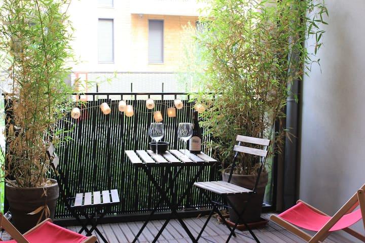 Logement avec terrasse 100m du RER - Ris-Orangis - Apartamento
