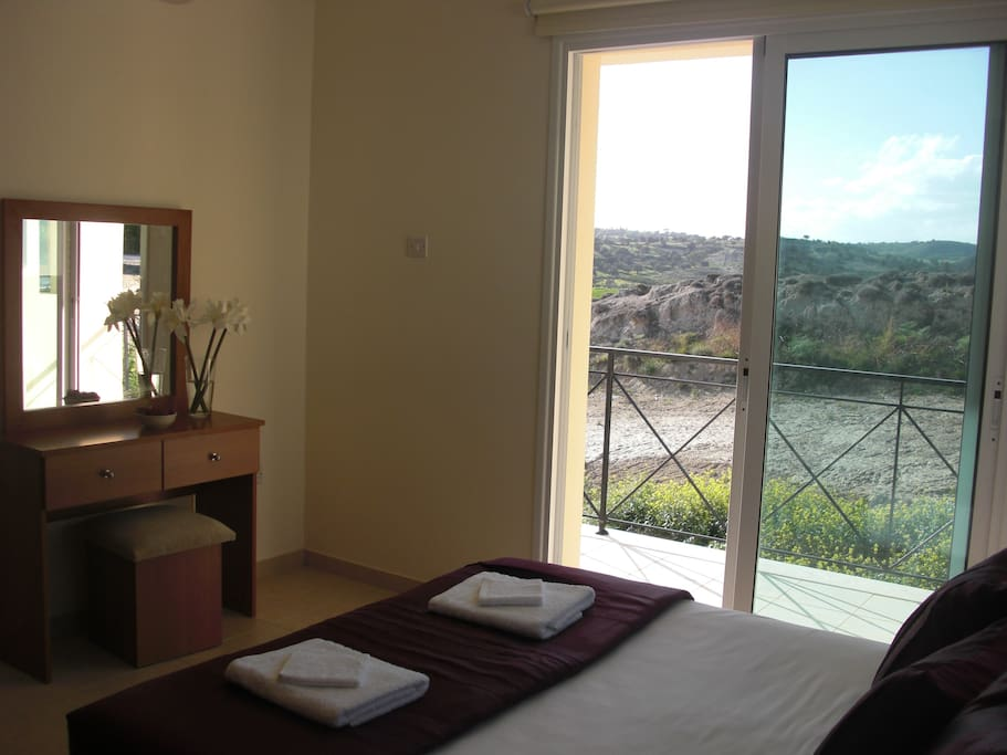 Beautiful, peaceful view from the master bedroom with ensuite and balcony!