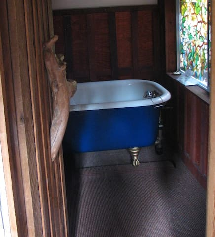 Imagine soaking in a deep clawfoot tub