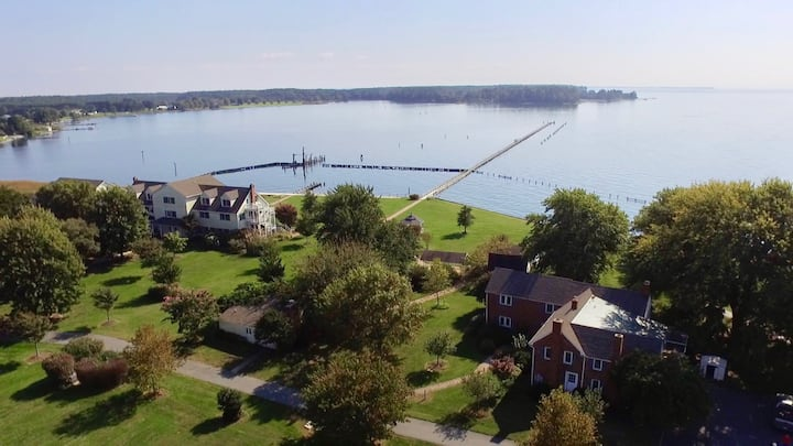 Massive 18 Acre waterfront private estate.