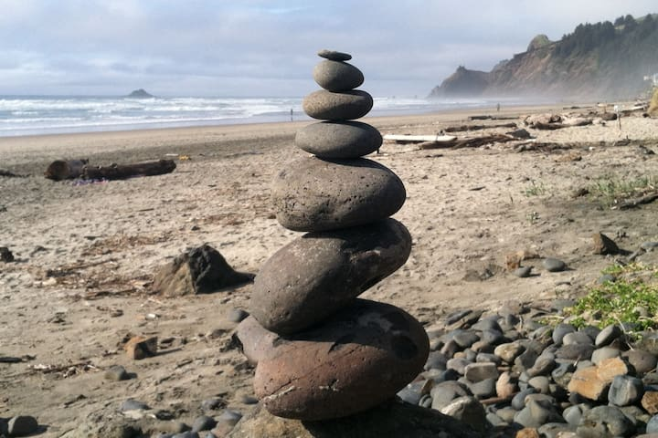 I like whomever stacks these cairns on the beach for me to photograph!
