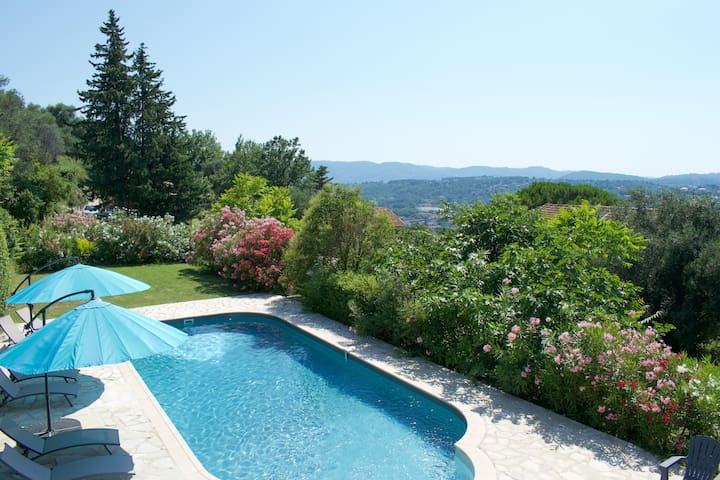 Splendide Villa, Vue Dominante Grasse & Tanneron