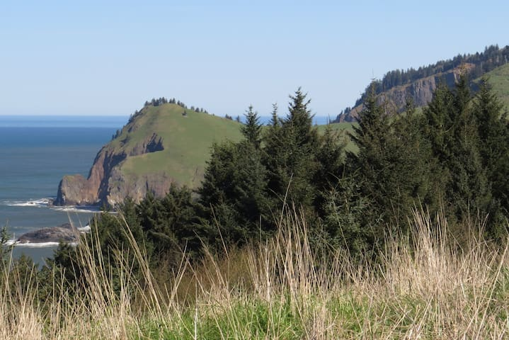 View of Cascade Head, just north of Lincoln Cty.