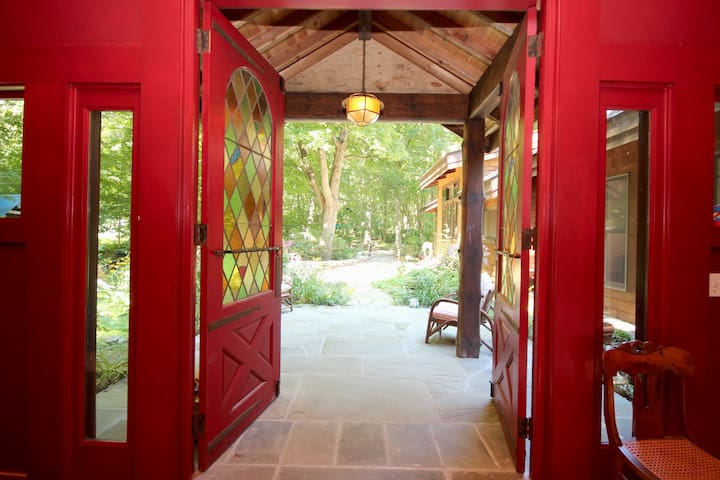 Breezeway which connects you to the rest of the lodge.