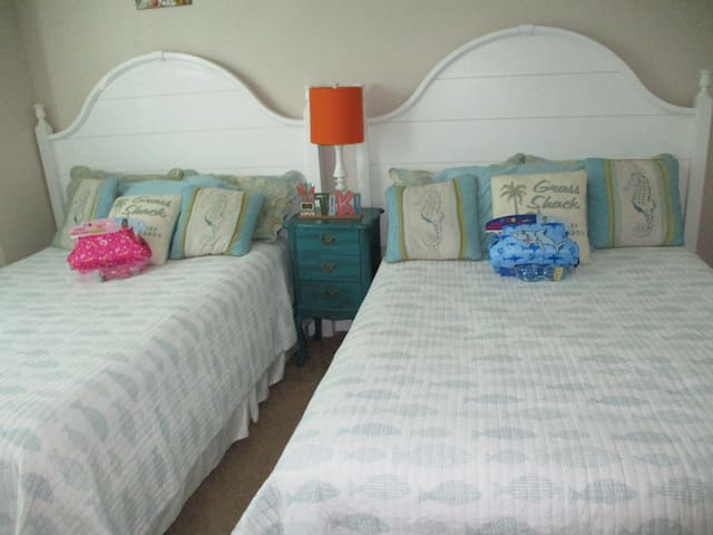 Guest Bedroom 2 with two full size beds