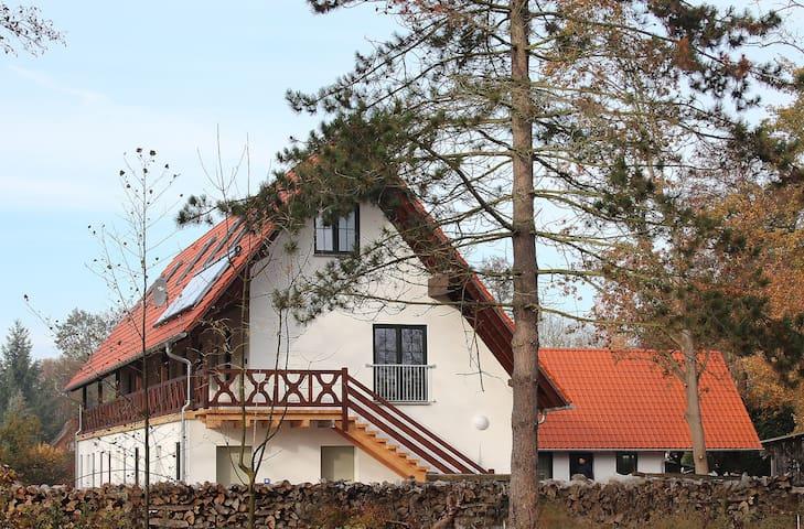 """Ferienwohnungen Zum Baumhaus Whg.1 """"Laubhütte"""""""