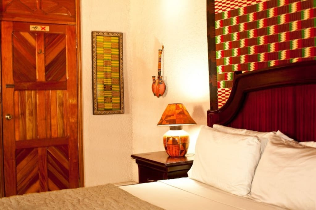 Kente Room King sized bed