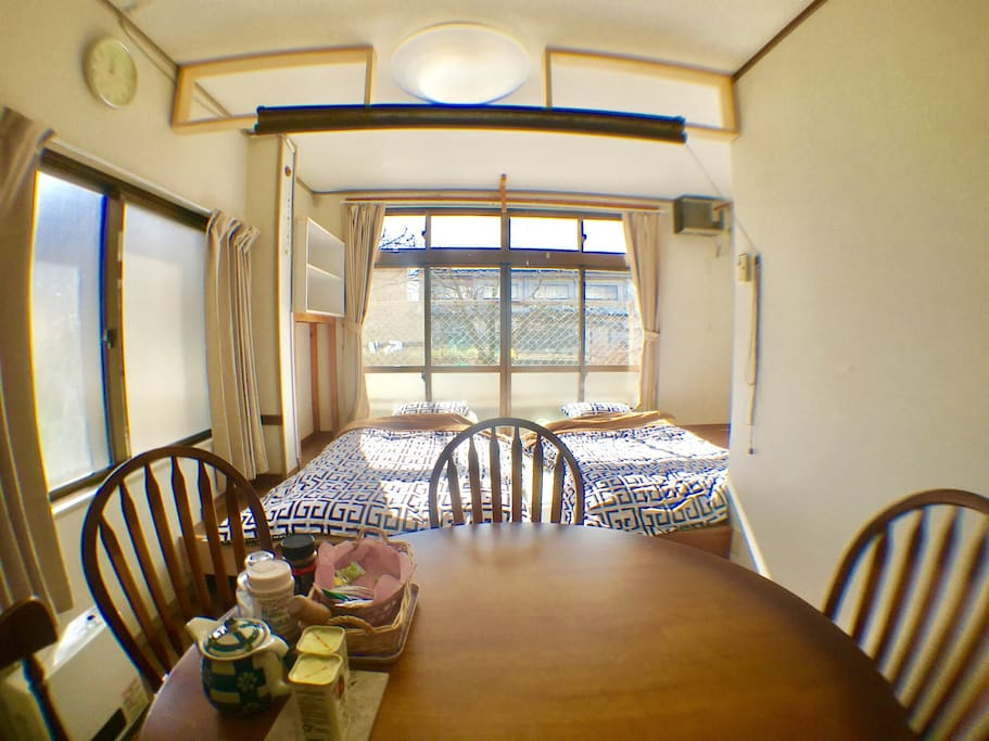 Dining table and main bed room on Tarami area.
