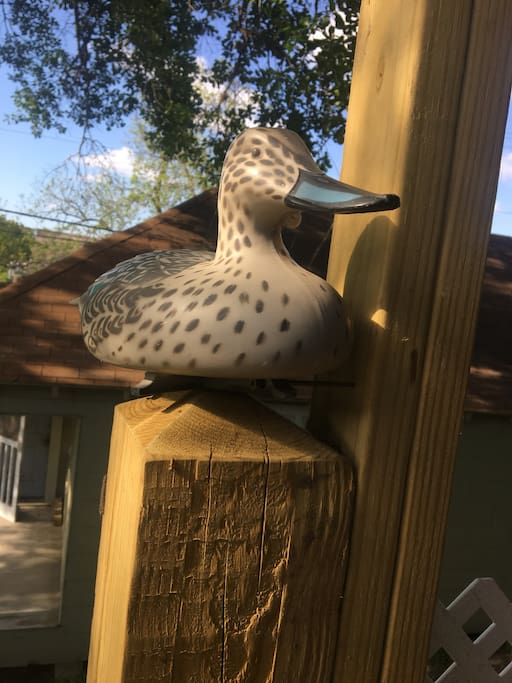 The Duck is always there to greet you.