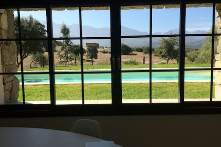 Studio neuf avec piscine chauffée et vue montagne. - Lumio - Byt