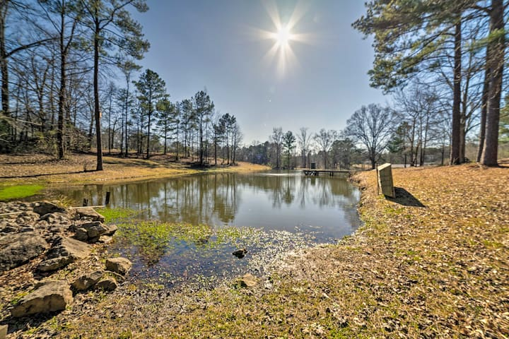 This property boasts a nearly 1-acre fishing pond!