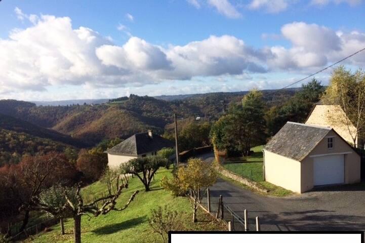 Gîte avec vue magnifique sur la vallée