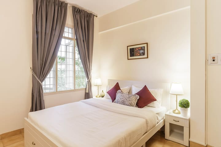 Master Bedroom - Our rooms are designed and furnished as per 5 Star Hotel standards to give you a comfortable stay and premium experience.