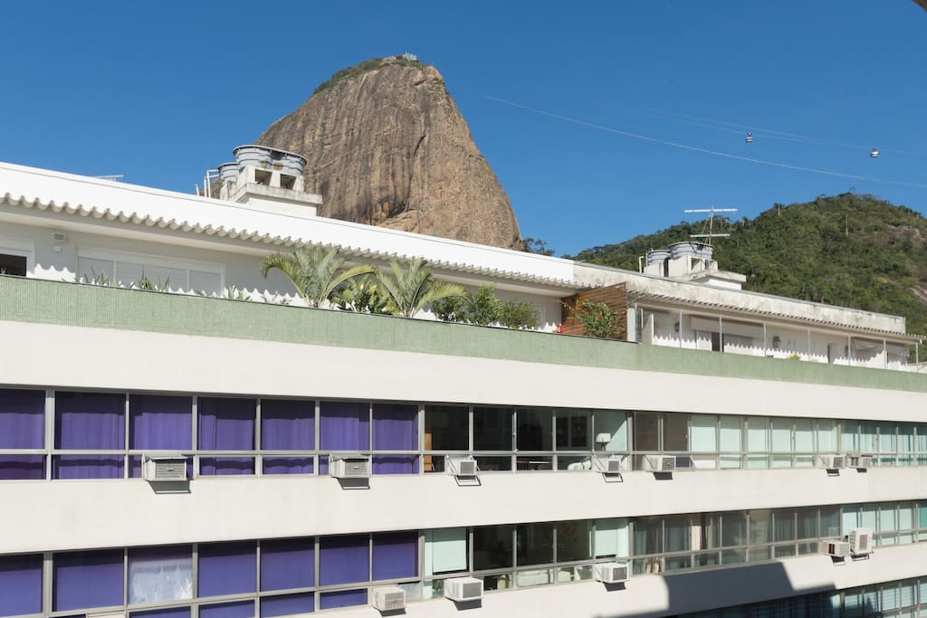Walk on the terrace and look at the Sugar Loaf