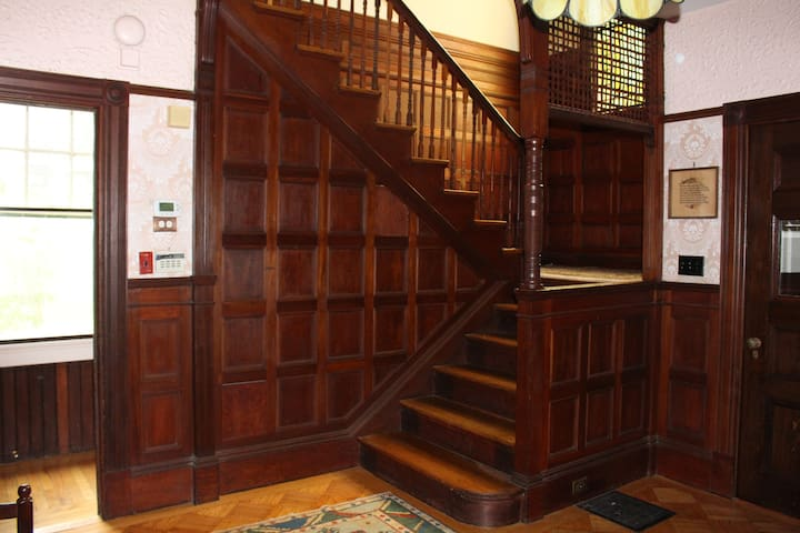 Our hall and staircase to your space