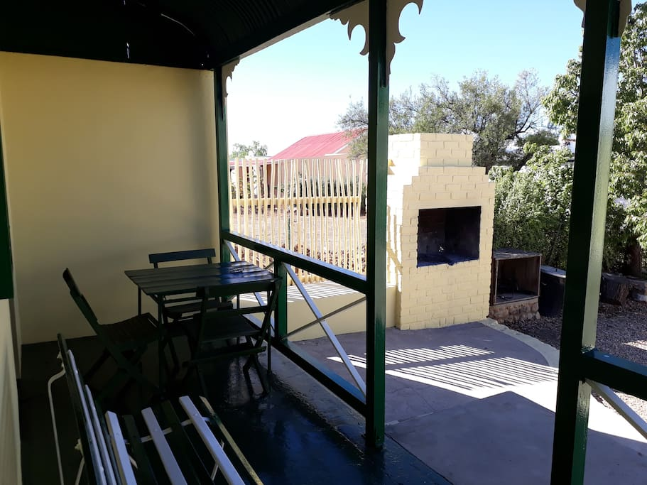 Guests are welcome to braai using the wood provided.