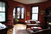 Front parlor, which is shared space