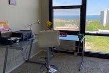 Studio With View of Lake Michigan
