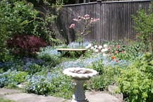 "The ""tea room"" in our garden in April"