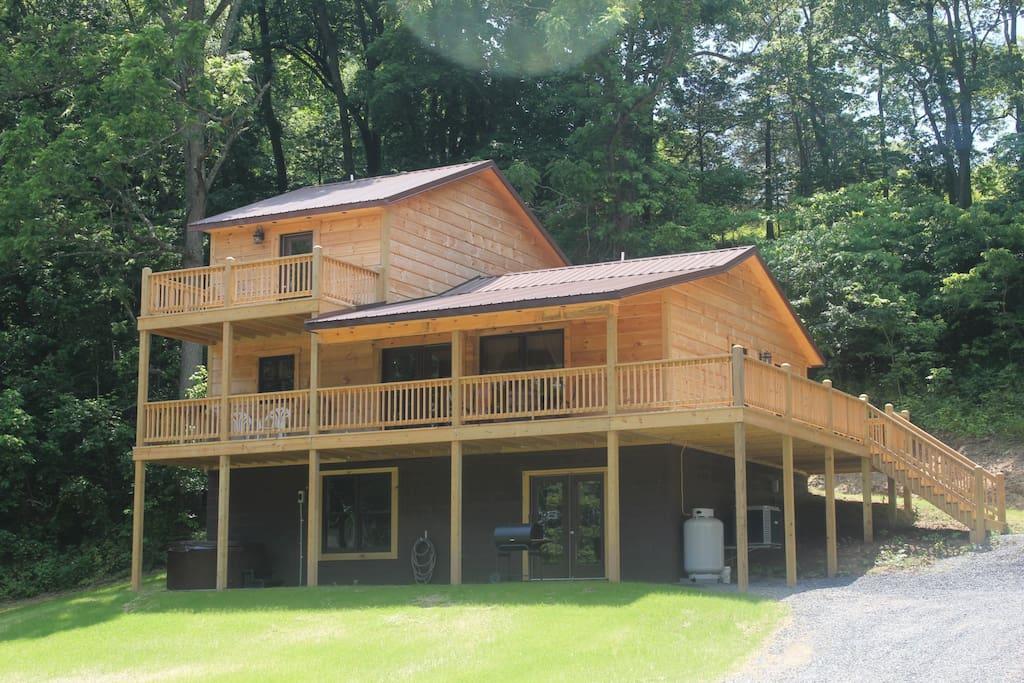 Foggy River Chalet Shenandoah River Cabins For Rent In