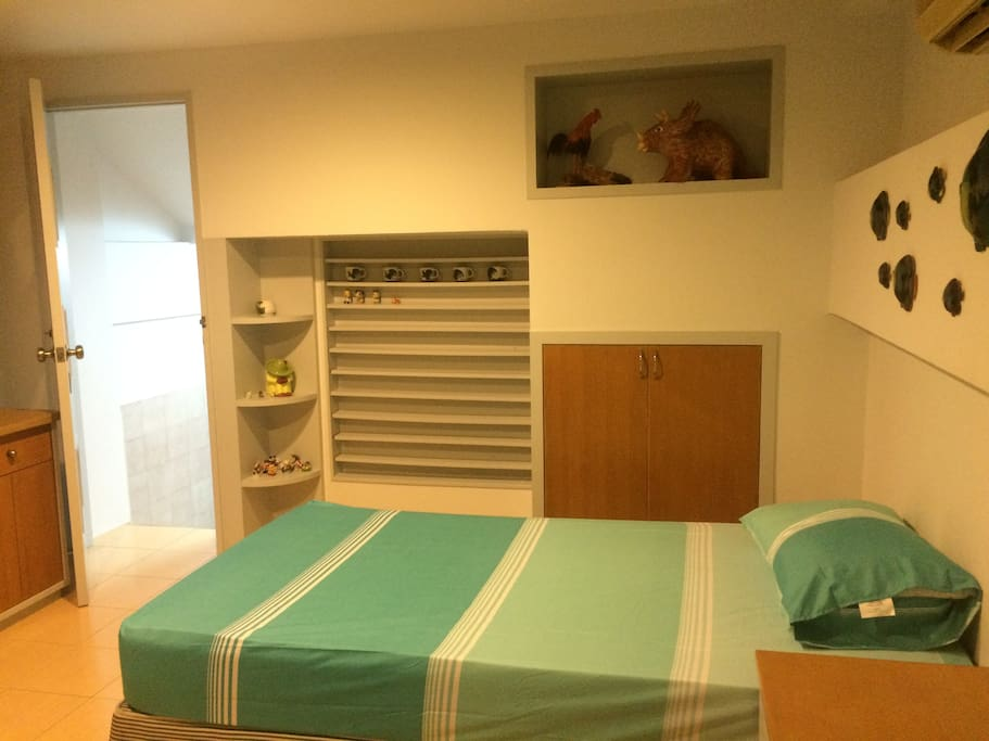 Split level to bed room.