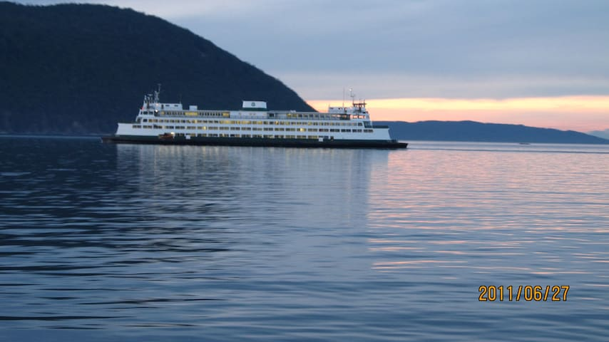Watch the San Juan Island Ferry go by