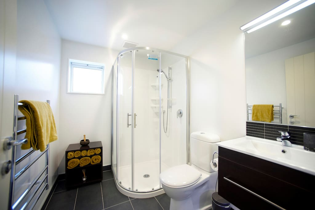 Your private heated ensuite