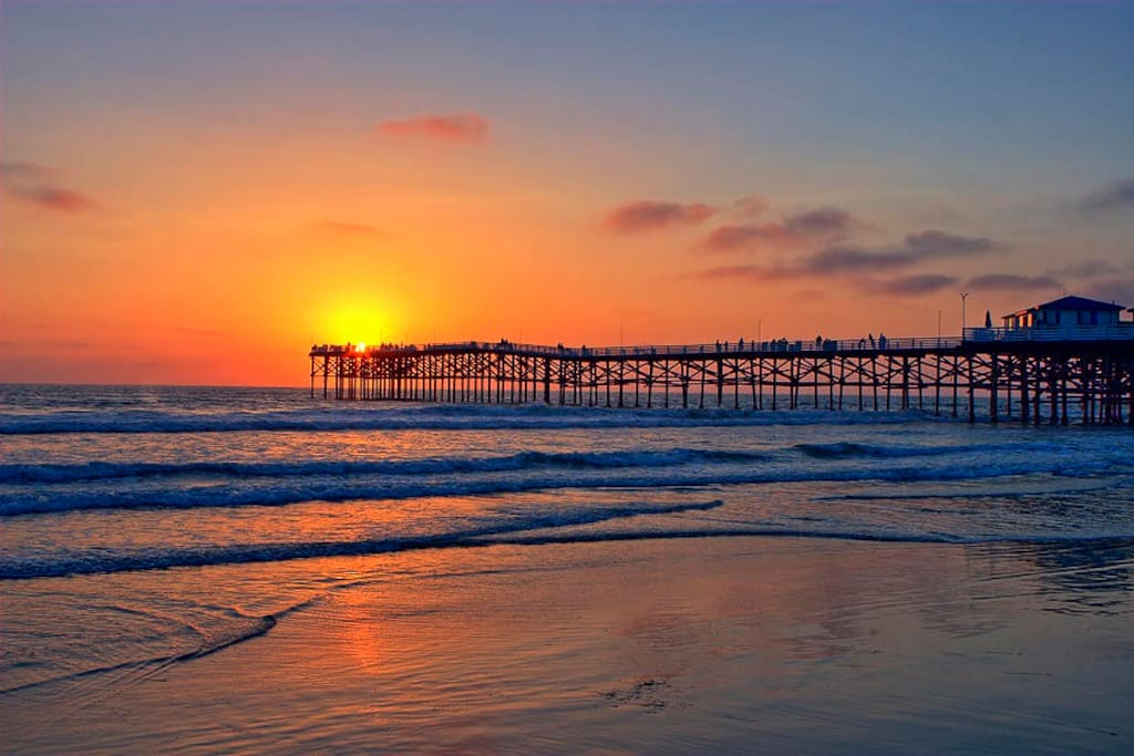 Sunset over Pacific Beach Pier.