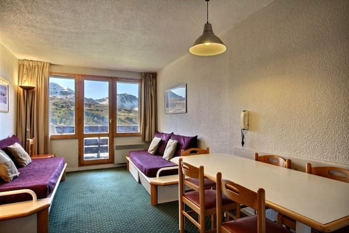 Ground floor apartment, good location, ski-in ski-out, close to shops