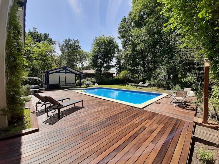 Villa de 3 chambres à Moliets-et-Maa, avec piscine privée, jardin clos et WiFi
