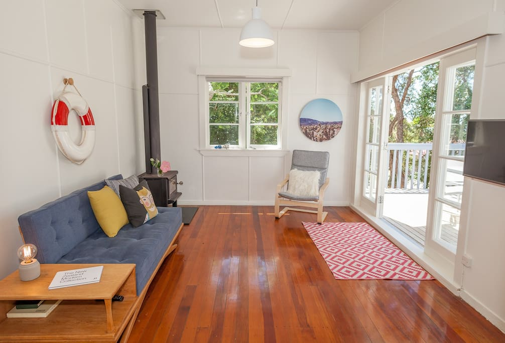Polished Rimu floors are cool in the summer