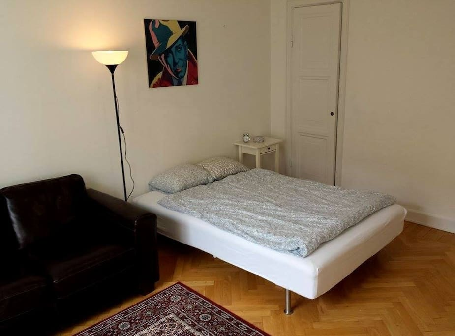 Double Bed (140cm) and sofa