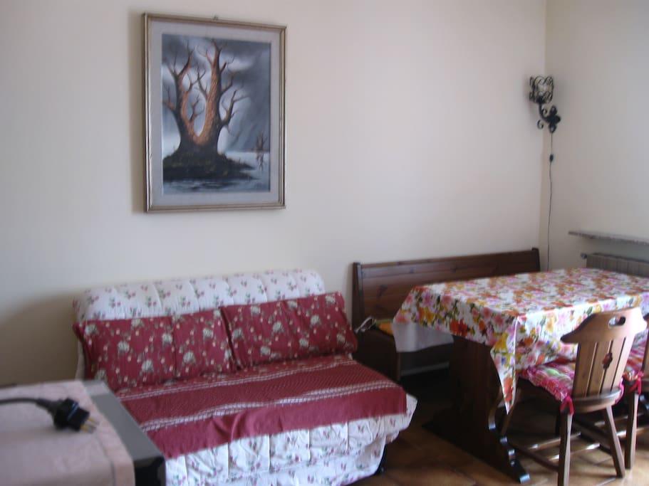 sala e divano letto