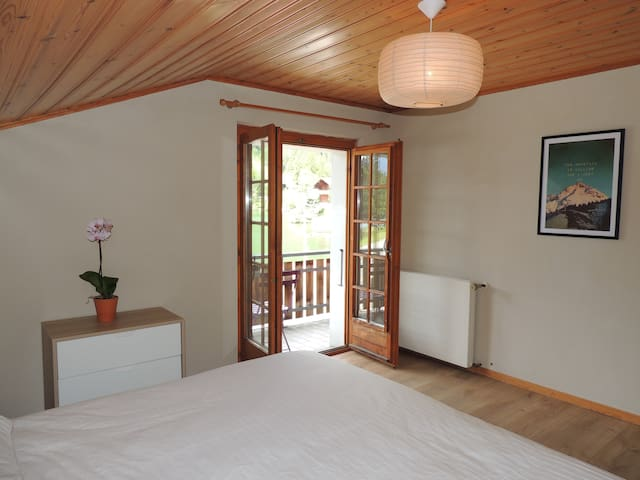 Double room with lake view - Mt Blc - Orsières - Bed & Breakfast