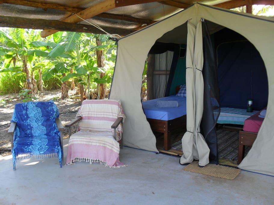 Your comfortable safari tent