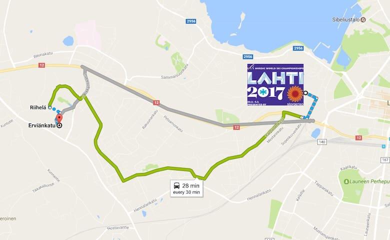 Cozy apartment with easy access to Lahti Ski Games - Lahti - Rekkehus