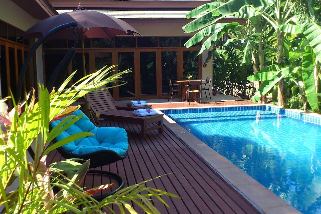 Villa piscine priv e koh phangan villas louer koh for Piscine a debordement thailande