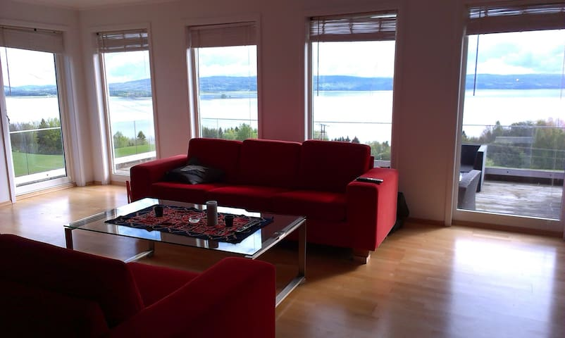 Apartment with beautiful lake view - Rælingen - Dům