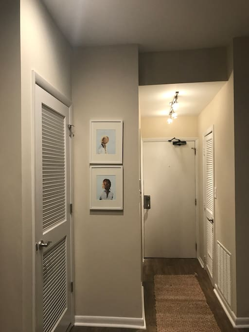 Front door + entry way