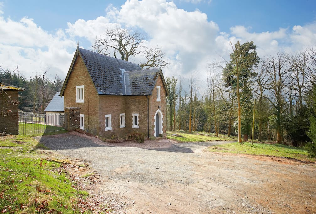 Keepers Cottage, a Victorian gamekeepers house reached by a private track through the woods
