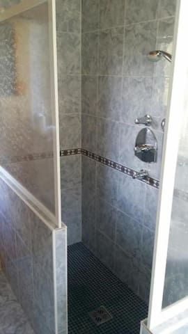 1st floor bathroom - spacious walk-in shower