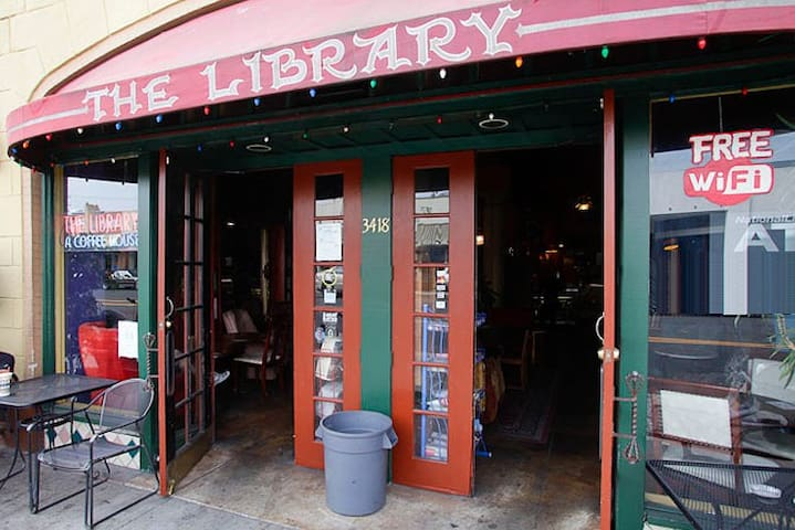 The library coffee shop is just 3 blocks away on Broadway and has good coffee and lots of space to sit