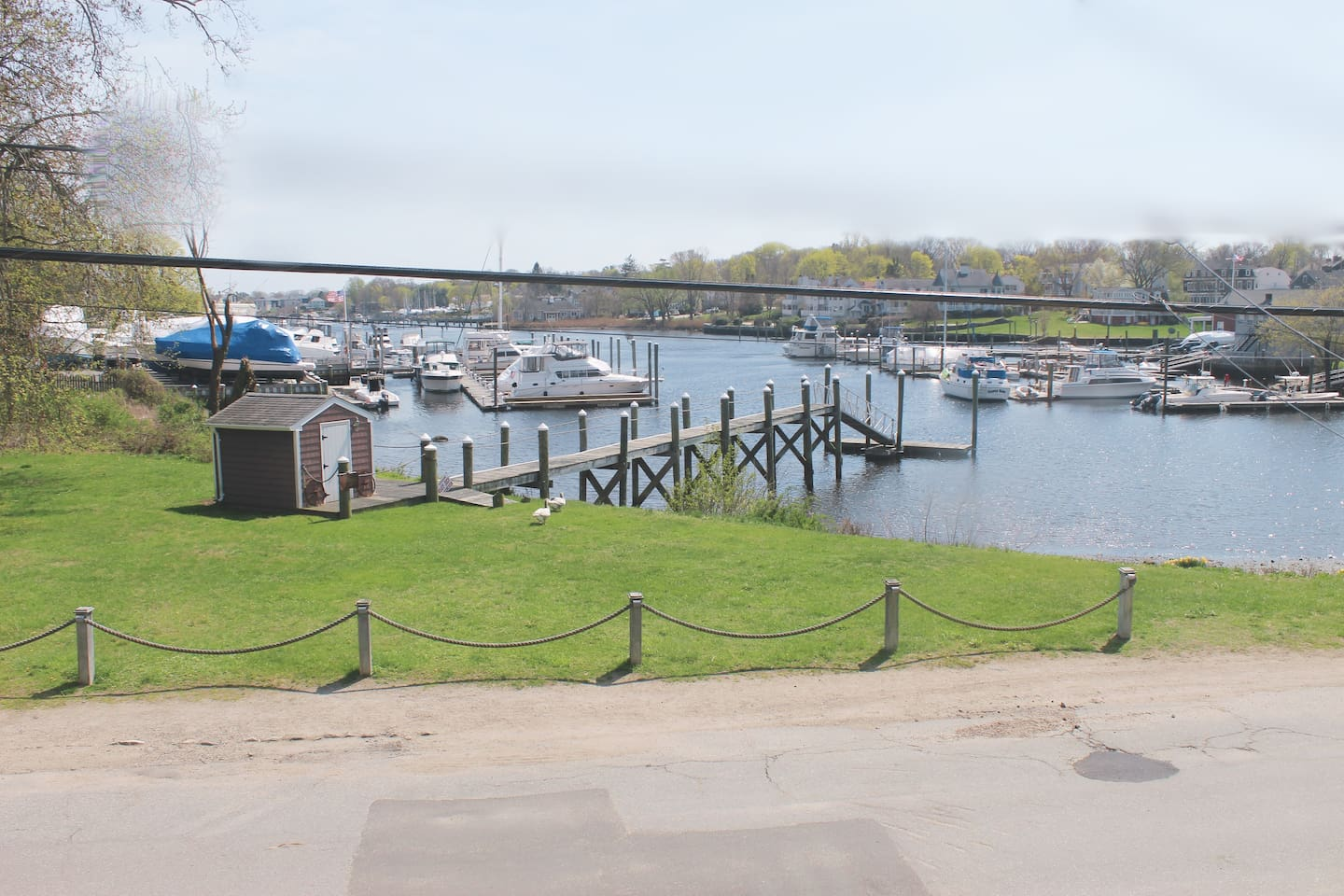 View of Pawtuxet Cove from your bedroom.