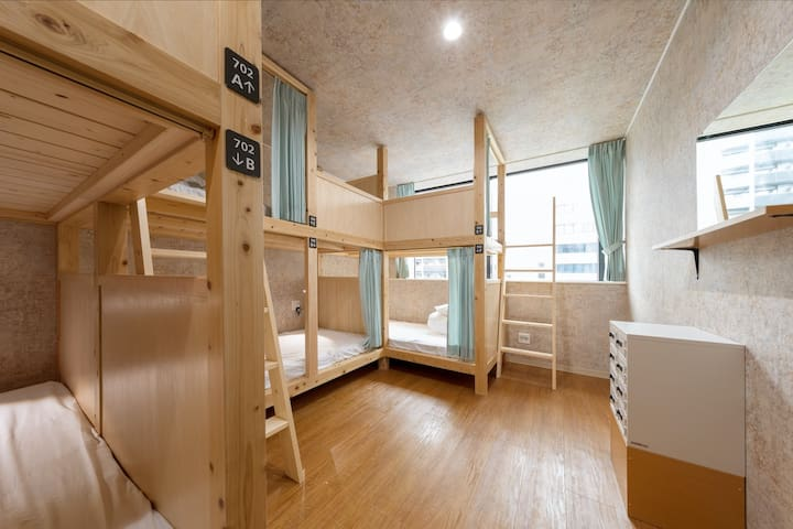 Cozy dorm/right in front of Shinsaibashi!!