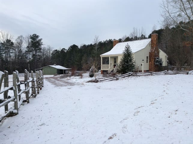 The farm in winter.