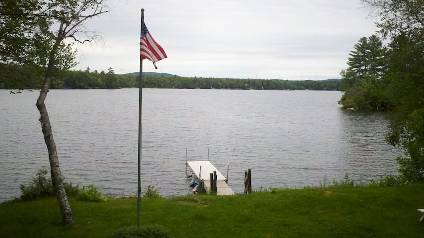 Great swimming fishing and boating on the lake.  Boat launch within walking distance.  Longer and better dock installed since this was taken.